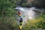 Kajakarze na rzece Widawka