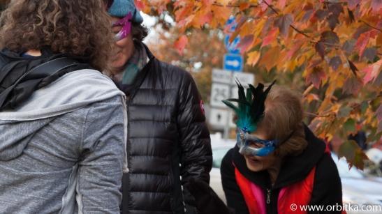 Halloween 2015 na głównej ulicy w Newtown (CT) - USA - 2015-10-31
